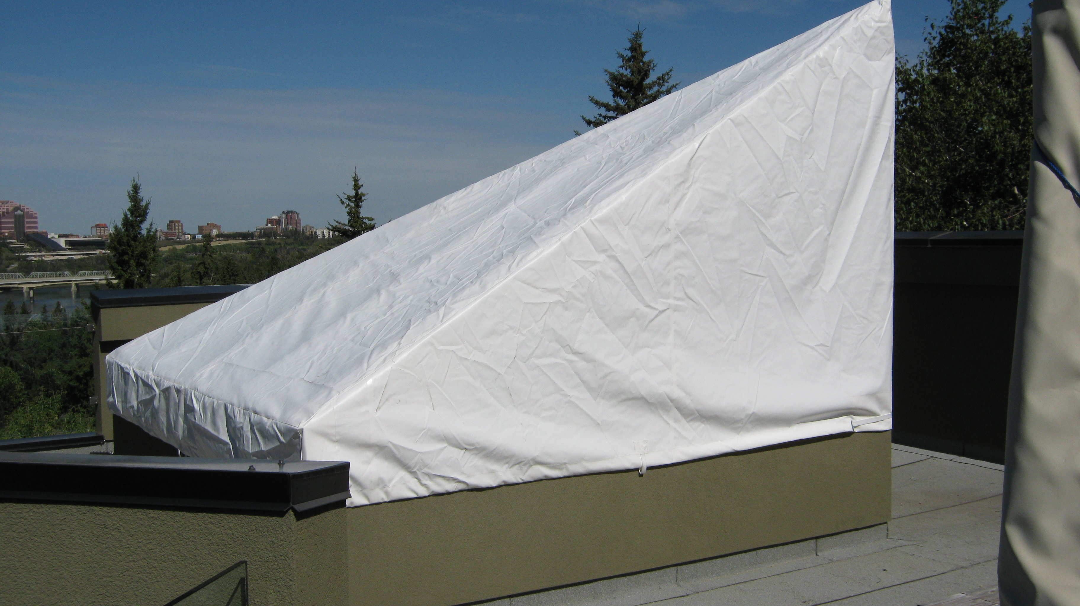Protective Building Awnings Edmonton Commercial Awnings
